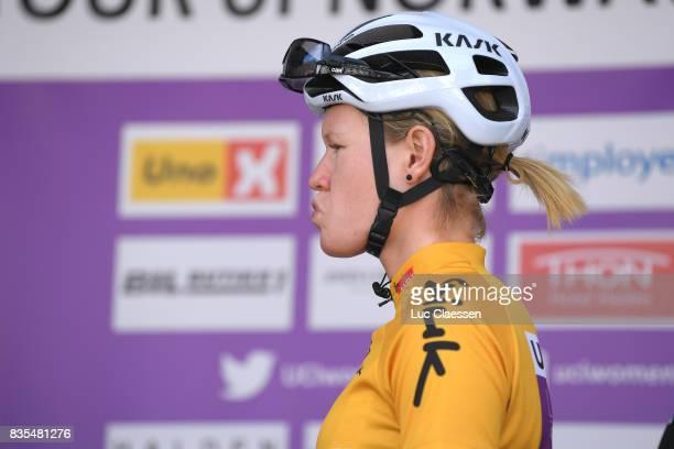 3rd Ladies Tour Of Norway 2017 / Stage 2 Start / Jolien DHOORE Yellow Leader Jersey / Sarpsborg Fredrikstad / Women / TON /