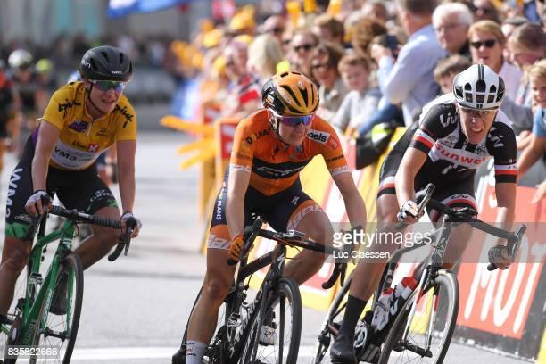 3rd Ladies Tour Of Norway 2017 / Stage 3 Arrival / Megan GUARNIER / Ellen VAN DIJK / Marianne VOS Yellow Leader Jersey / Sprint / Svinesund Halden /...