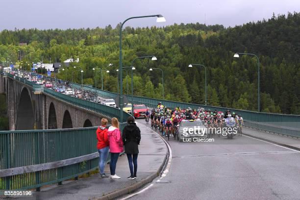 3rd Ladies Tour Of Norway 2017 / Stage 3 Landscape / Peloton / start / Bridge / Svinesund Halden / Women / TON /