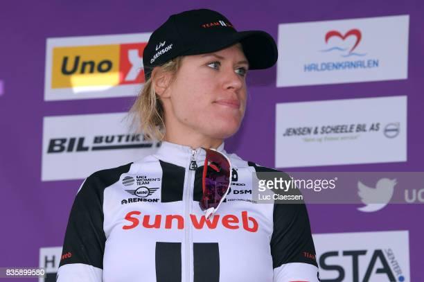 3rd Ladies Tour Of Norway 2017 / Stage 3 Podium / Ellen VAN DIJK Celebration / Svinesund Halden / Women / TON /