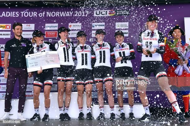3rd Ladies Tour Of Norway 2017 / Stage 3 Podium / Liane LIPPERT / Leah KIRCHMANN / Juliette LABOUS / Floortje MACKAIJ / Sabrina STULTIENS / Ellen VAN...