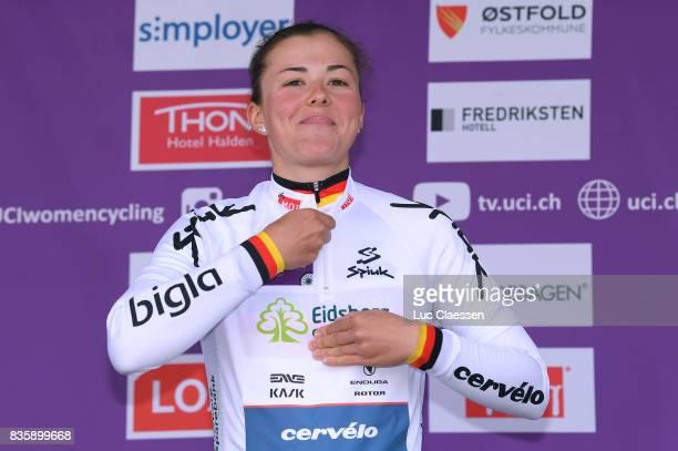 3rd Ladies Tour Of Norway 2017 / Stage 3 Podium / Lisa KLEIN White young riders jersey Celebration / Svinesund Halden / Women / TON /