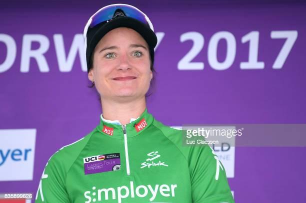 3rd Ladies Tour Of Norway 2017 / Stage 3 Podium / Marianne VOS Green points jersey Celebration / Svinesund Halden / Women / TON /