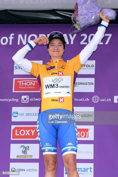 3rd Ladies Tour Of Norway 2017 / Stage 3 Podium / Marianne VOS Yellow leaders jersey Celebration / Svinesund Halden / Women / TON /