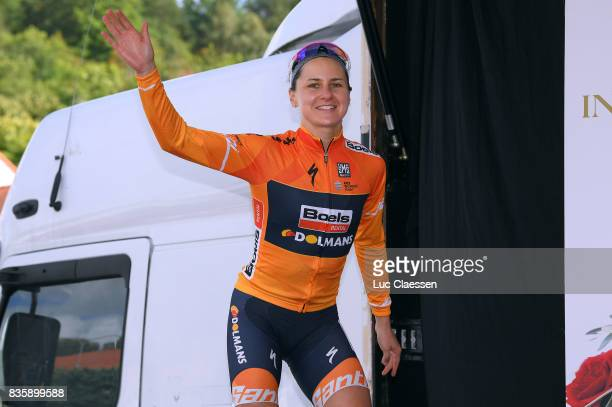 3rd Ladies Tour Of Norway 2017 / Stage 3 Podium / Megan GUARNIER Celebration / Svinesund Halden / Women / TON /