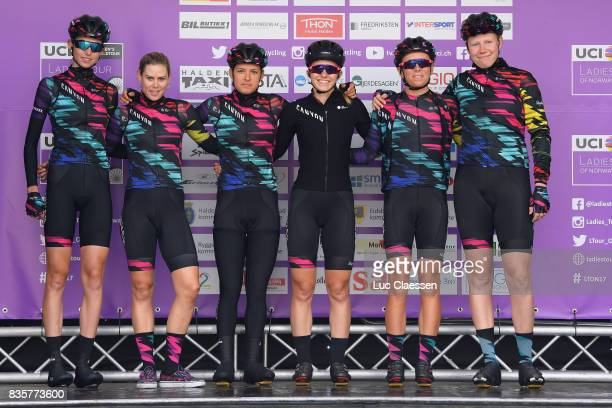 3rd Ladies Tour Of Norway 2017 / Stage 3 Start / Podium / Christa RIFFEL / Tiffany CROMWELL / Barbara GUARISCHI / Mieke KROGER / Alexis RYAN / Leah...