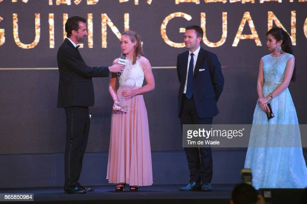 3rd UCI Gala Awards 2017 Anna VAN DER BREGGEN Best Rider Of The Year / David LAPPARTIENT UCI President / ShangriLa Hotel / UCI Gala Awards /