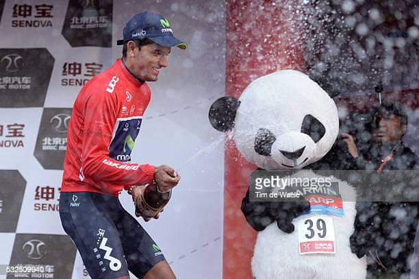 3th Tour of Beijing 2013 / Stage 5 Podium / INTXAUSTI ELORRIAGA Red Leader Jersey Celebration Joie Vreugde / Panda Champagne / Tian An Men Square...