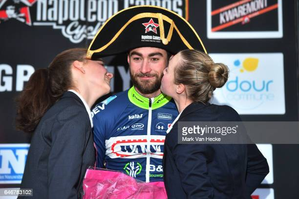 49th Grand Prix Le Samyn 2017 / Men Podium / Guillaume VAN KEIRSBULCK / Celebration / Napoleon hat/ Quaregnon Dour / Men / GP Samyn/ ©Tim De...
