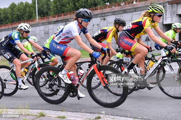4th BeNe Ladies Tour / Stage 3 Vibeke DYBWAD / Elinor BARKER / Simone DE VRIES / Zelzate Zelzata / Women/