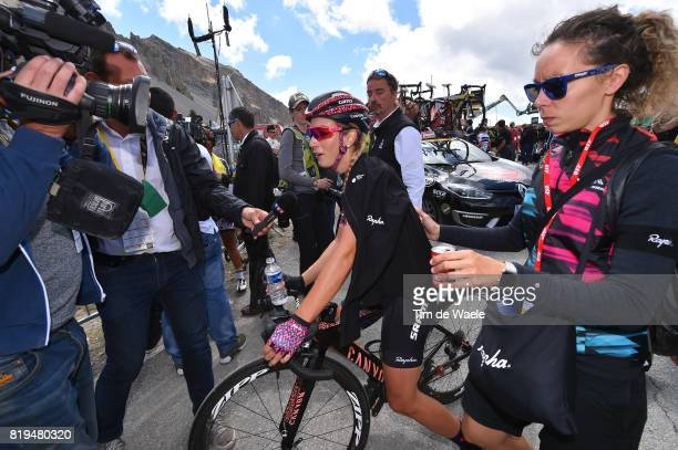 4th La Course 2017 by Le Tour de France / Stage 1 Arrival / Pauline FERRAND PREVOT / Car / Press Media / Briancon IzoardCol d'Izoard 2360m / Women /...