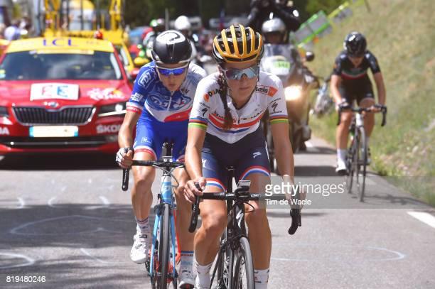 4th La Course 2017 by Le Tour de France / Stage 1 Lizzie Elizabeth ARMITSTEADDEIGNAN / Shara GILLOW / Elisa LONGO BORGHINI / Car / Briancon IzoardCol...