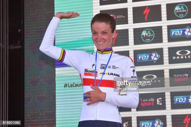 4th La Course 2017 by Le Tour de France / Stage 1 Podium / Lizzie Elizabeth ARMITSTEADDEIGNAN / Celebration / Briancon IzoardCol d'Izoard 2360m /...