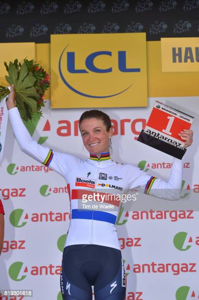 4th La Course 2017 by Le Tour de France / Stage 1 Podium / Lizzie Elizabeth ARMITSTEADDEIGNAN Most Agressive Rider Celebration / Briancon IzoardCol...