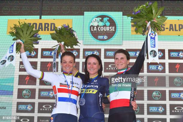 4th La Course 2017 by Le Tour de France / Stage 1 Podium / Lizzie Elizabeth ARMITSTEADDEIGNAN / Annemiek VAN VLEUTEN / Elisa LONGO BORGHINI /...