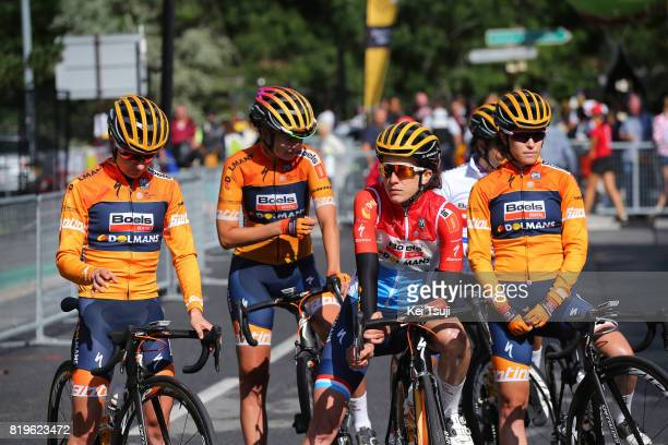 4th La Course 2017 by Le Tour de France / Stage 1 Start / Megan GUARNIER / Nikki BRAMMEIER / Christine MAJERUS / KarolAnn CANUEL / Team Boels Dolmans...