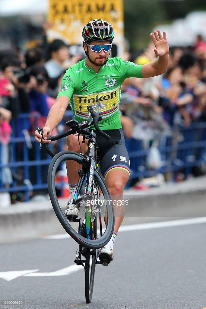4th Tour de France Saitama Criterium 2016 Arrival / Peter SAGAN (SVK) Green Sprint Jersey Celebration / Saitama - Saitama (57km) / Saitama Criterium / ©Tim De WaeleKT/Tim De Waele/Corbis via Getty Images)