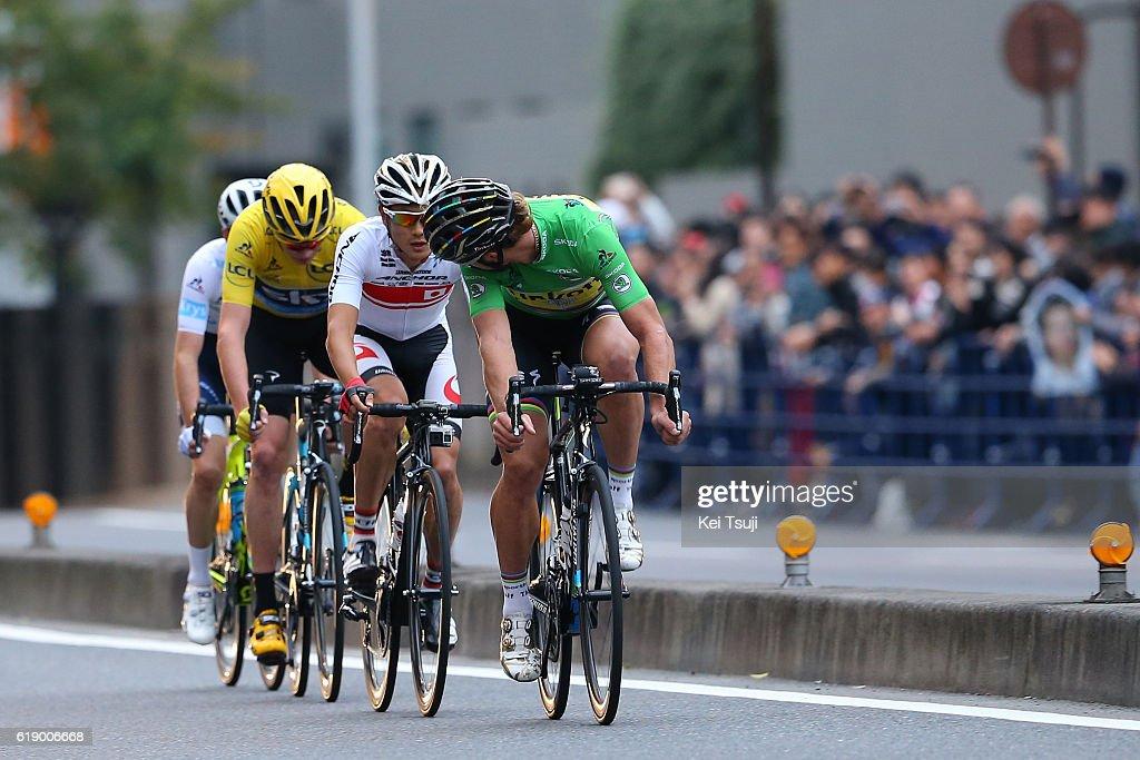 4th Tour de France Saitama Criterium 2016 Christopher FROOME (GBR) Yellow Leader Jersey / Peter SAGAN (SVK) Green Sprint Jersey / Sho HATSUYAMA (JPN)/ Adam YATES (GBR)/ Saitama - Saitama (57km) / Saitama Criterium / ©Tim De WaeleKT/Tim De Waele/Corbis via Getty Images)