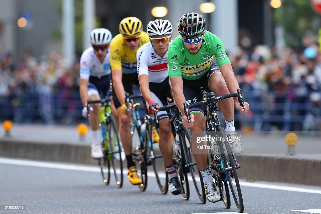 4th Tour de France Saitama Criterium 2016 Christopher FROOME (GBR) Yellow Leader Jersey / Peter SAGAN Green Sprint Jersey (SVK)/ Sho HATSUYAMA (JPN)/ Adam YATES (GBR)/ Saitama - Saitama (57km) / Saitama Criterium / ©Tim De WaeleKT/Tim De Waele/Corbis via Getty Images)