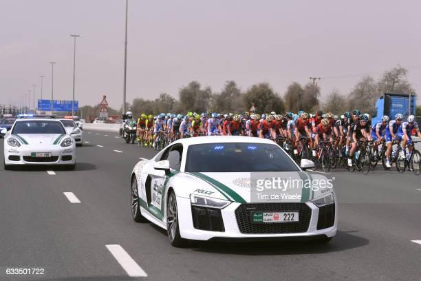 4th Tour Dubai 2017 / Stage 3 Illustration / AUDI Police Car / Peloton / DubaiDIMC Alaqah / Dubai Silicon Oasis Stage / Dubai Tour /