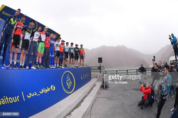 4th Tour Dubai 2017 / Stage 4 Start / Podium / Marcel KITTEL Blue Leader Jersey/ Bernhard EISEL / Samuel SANCHEZ / John DEGENKOLB Red Points Jersey/...
