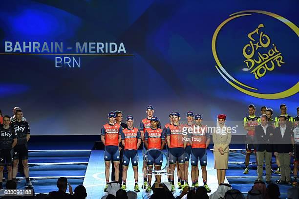4th Tour Dubai 2017 / Teams Presentation Bahrain Merida / Sonny COLBRELLI / Grega BOLE / Borut BOZIC / FENG Chun Kai / Enrico GASPAROTTO / Ivan...