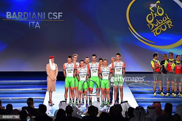 4th Tour Dubai 2017 / Teams Presentation Bardiani CSF / Simone ANDREETTA /Enrico BARBIN / Nicola BOEM / Marco MARONESE / Paolo SIMION / Simone...