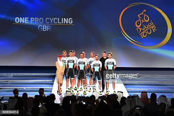 4th Tour Dubai 2017 / Teams Presentation One Pro Cycling / Karol DOMAGALSKI / Kristian HOUSE / Joshua HUNT / Hayden MCCORMICK / Thomas STEWART /...