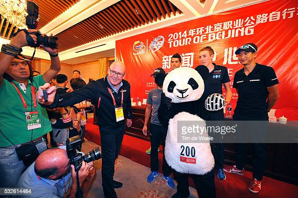 4th Tour of Beijing 2014 / Team Presentation Benat INTXAUSTI ELORRIAGA / Daniel MARTIN / Philippe GILBERT / Cheng JI / Panda Bear Mascotte / David...