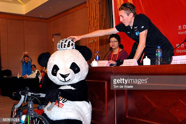 4th Tour of Beijing 2014 / Team Presentation Daniel MARTIN / Panda Bear Mascotte / Press Conference Persconferentit PC / Presentation Equipes...