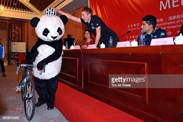 4th Tour of Beijing 2014 / Team Presentation Daniel MARTIN / Benat INTXAUSTI ELORRIAGA / Panda Bear Mascotte / Press Conference Persconferentit PC /...