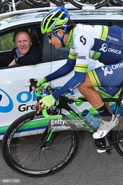 51th Tirreno Adriatico 2016 / Stage 3 CHAVES RUBIO Johan Esteban / ALGERI Victtorio Sportsdirector ORICA GREENEDGE / Castelnuovo Val Di Cecina...