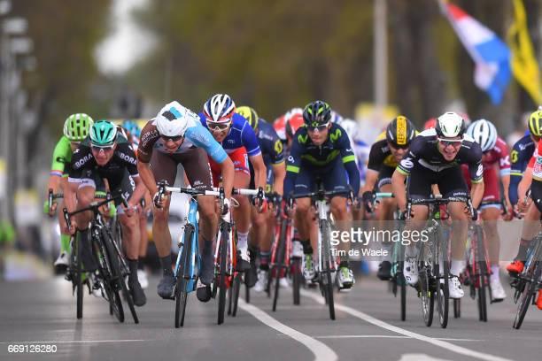 52nd Amstel Gold Race 2017 / Men Arrival / Sprint / Oliver NAESEN / Kristian SBARAGLI / Maastricht Valkenburg / Men /