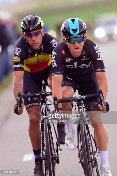52nd Amstel Gold Race 2017 / Men Michal KWIATKOWSKI / Philippe GILBERT / Maastricht Valkenburg / Men / pool nv /