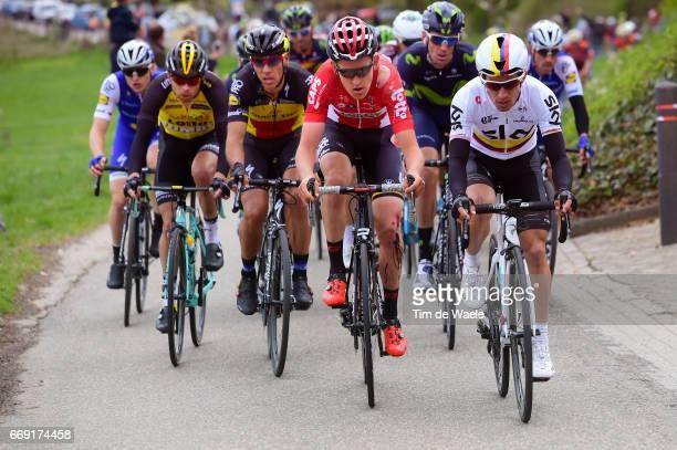 52nd Amstel Gold Race 2017 / Men Sergio Luis HENAO / Tiesj BENOOT / Philippe GILBERT / Maastricht Valkenburg / Men / pool nv /