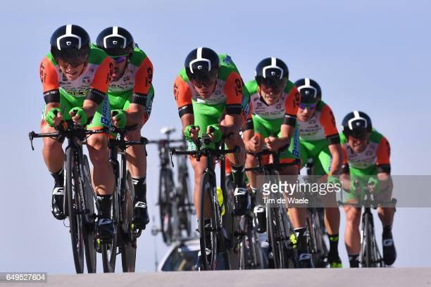 52nd TirrenoAdriatico 2017 / Stage 1 Team Bardiani CSF / Nicola BOEM / Simone ANDREETTA /Enrico BARBIN / Mirco MAESTRI / Nicola RUFFONI / Alessandro...