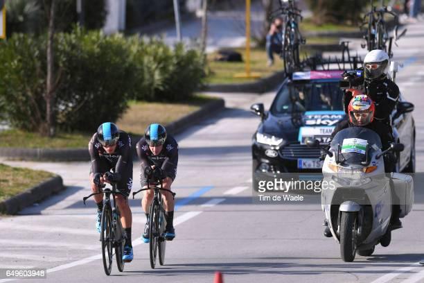 52nd TirrenoAdriatico 2017 / Stage 1 Team Sky / Gianni MOSCON / Elia VIVIANI / Lido di Camaiore Lido di Camaiore / TTT / Team Time Trial /