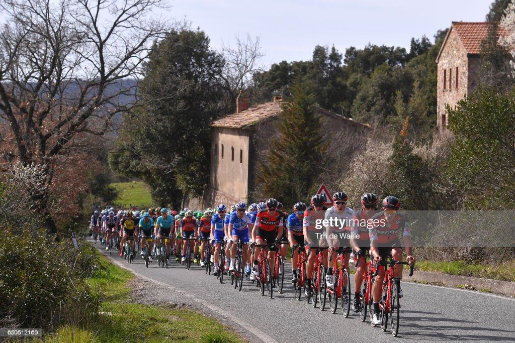 52th Tirreno - Adriatico 2017 / Stage 2 Jean-Pierre DRUCKER (LUX)/ Manuel QUINZIATO (ITA)/ Stefan KUNG (SUI) Best Young Rider Jersey / Daniel OSS (ITA)/ Damiano CARUSO (ITA) Blue Leader Jersey / Camaiore - Pomarance (229Km)/