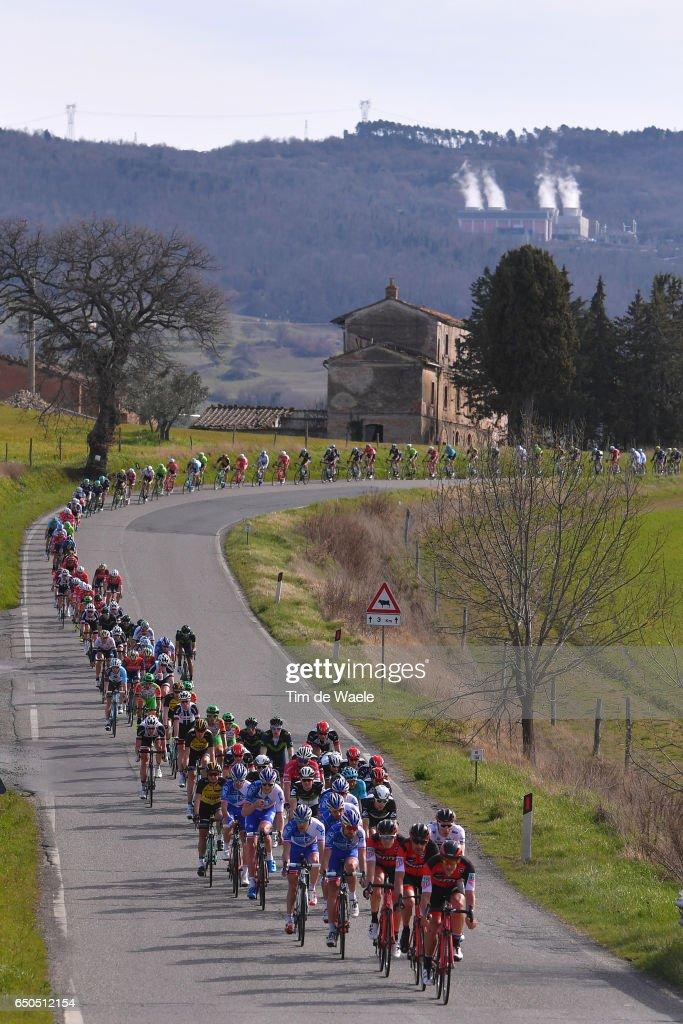 52th Tirreno - Adriatico 2017 / Stage 2 Peloton / Montecerboli 415m Mountains / Landscape / Camaiore - Pomarance (229Km)/