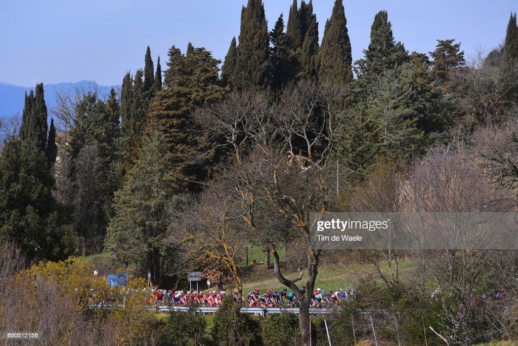 52th Tirreno - Adriatico 2017 / Stage 2 Peloton / Serrazzano 525m Mountains / Landscape / Camaiore - Pomarance (229Km)/