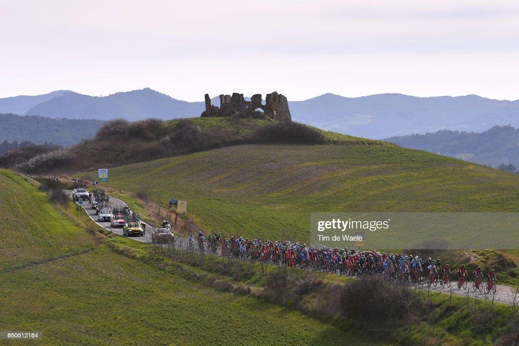 52th Tirreno - Adriatico 2017 / Stage 2 Peloton / Volterra 510m Mountains / Landscape / Camaiore - Pomarance (229Km)/