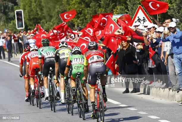 53rd Tour of Turkey 2017/ Stage 4 Alberto CECCHIN / Alessandro TONELLI / Danilo CELANO / Davide BALLERINI / Fans / Public / Marmaris Selcuk 413m /...
