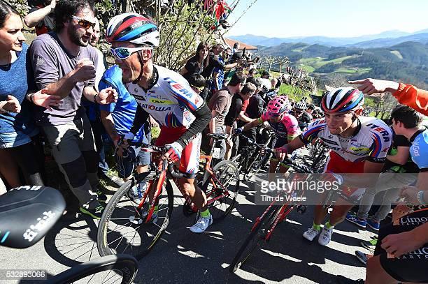 54th Vuelta Pais Vasco 2015/ Stage 3 Alexandr KOLOBNEV / Maxim BELKOV VitoriaZumarraga Tour Ronde Baskenland/ Etape Rit/ Tim De Waele