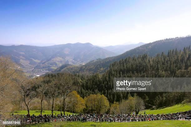 57th Vuelta Pais Vasco 2017 / Stage 5 Landscape / Peloton / Mountains / Bilbao EibarUsartzako 580m / Tour of Basque Country / Euskal Herriko Itzulia /