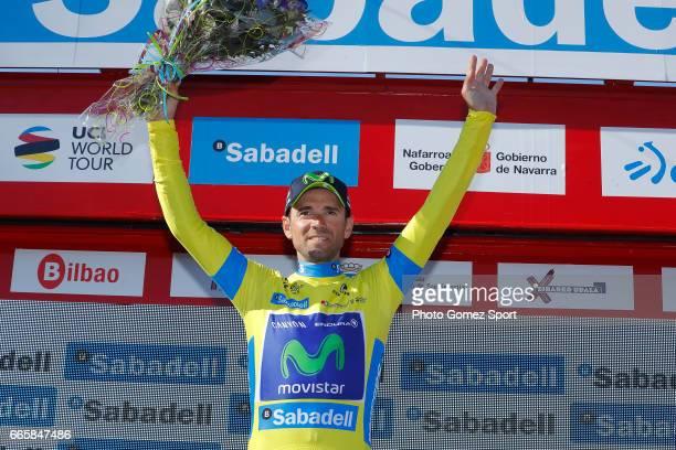 57th Vuelta Pais Vasco 2017 / Stage 5 Podium / Alejandro VALVERDE Yellow Leader Jersey Celebration / Bilbao EibarUsartzako 580m / Tour of Basque...