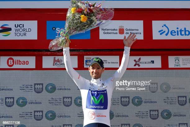 57th Vuelta Pais Vasco 2017 / Stage 6 Podium / Alejandro VALVERDE White Points Jersey / Celebration / Eibar Eibar / Individual Time Trial / ITT /...