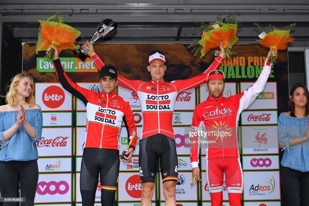 58th Grand Prix de Wallonie Podium/ Tony GALLOPIN (FRA)/ Tim WELLENS (BEL)/ Julien SIMON (FRA)/ Celebration / Chaudfontaine - Citadelle de Namur 216m (212,1km)/ GP Wallonie /