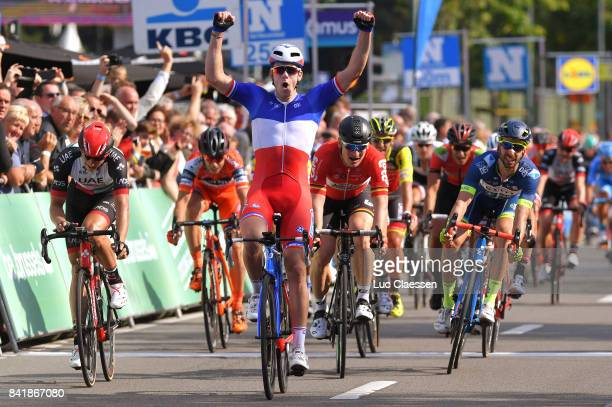 5th Brussels Cycling Classic 2017 Arrival / Arnaud DEMARE Celebration / Andre GREIPEL / Kenny DEHAES / Marko KUMP / Brussels Brussels /