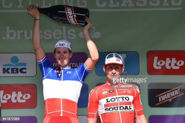 5th Brussels Cycling Classic 2017 Podium / Arnaud DEMARE Celebration / Andre GREIPEL / Brussels Brussels /