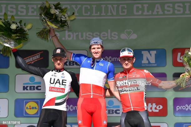 5th Brussels Cycling Classic 2017 Podium / Arnaud DEMARE Celebration / Marko KUMP / Andre GREIPEL / Brussels Brussels /